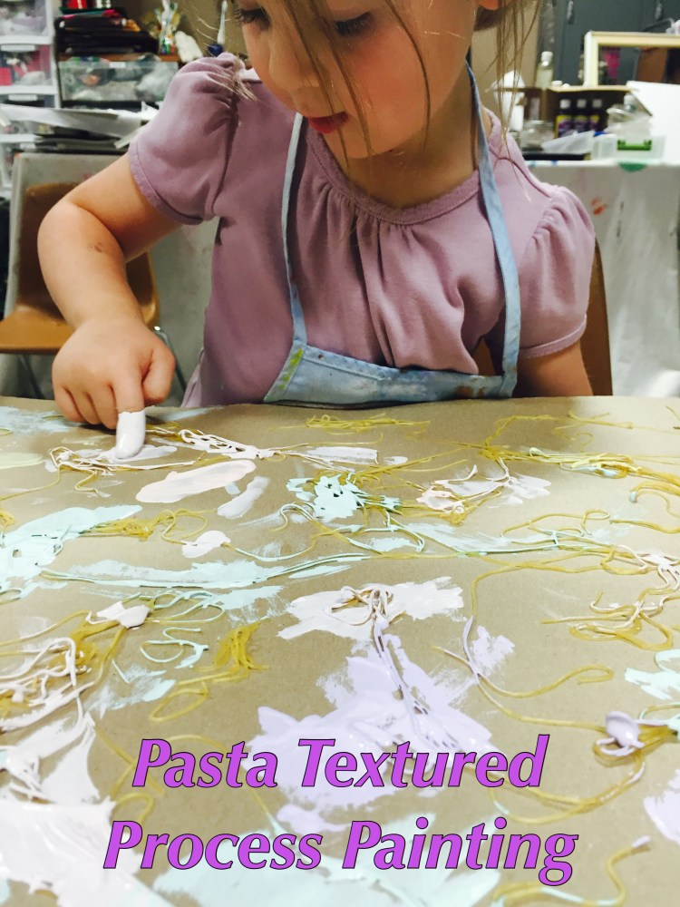 Sensory activity, Pasta, textured, texture, art, early education. process art, Wee Warhols, Austin