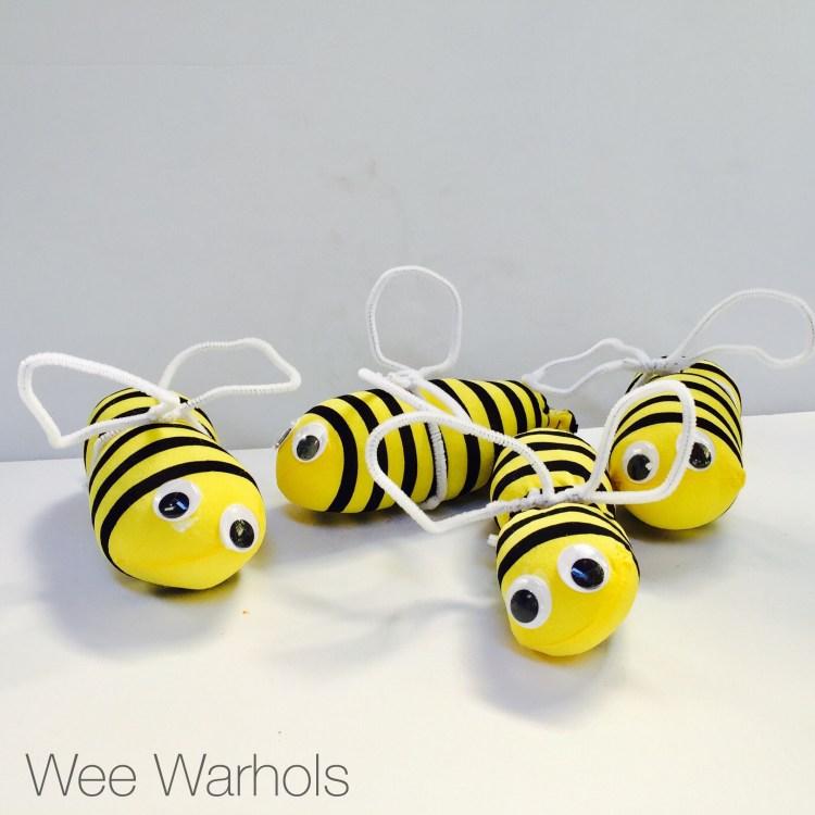 bumble bees, buzz, Wee Warhols, Austin, Art class