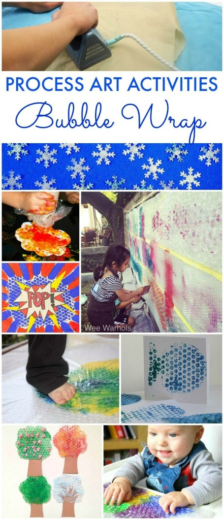 Process art, Wee Warhol's, bubble wrap, printing with kids, Austin