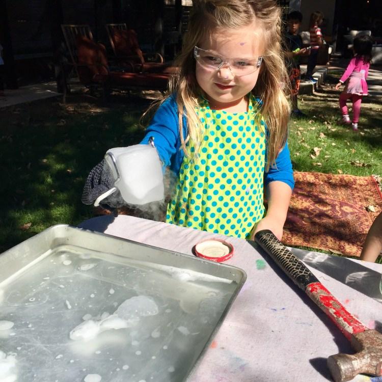 dry ice, Wee Warhols, Halloween workshop, Austin, STEAM camp, Steve Spangler