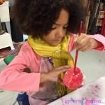 kids craft cupcake, diy, decorate fake cupcakes, process art, kids crafts, Wee Warhols, Austin, Figment Creative, Texas, birthday craft