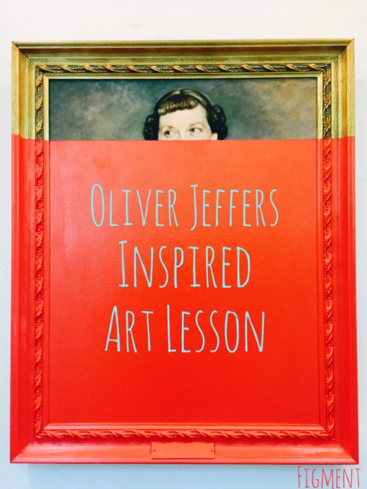 Oliver Jeffers inspired Art Lesson, Austin Texas, Figment Creative Labs, book illustration workshop, kid's art, dipped paintings