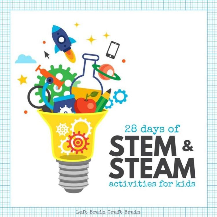 figment creative labs, left brain craft brain, 28 days of STEAM, STEM, science, engineering