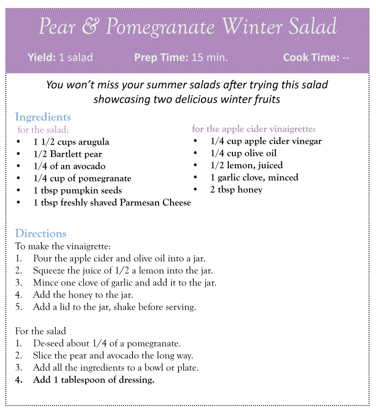 pear and pomegranate winter salad_high