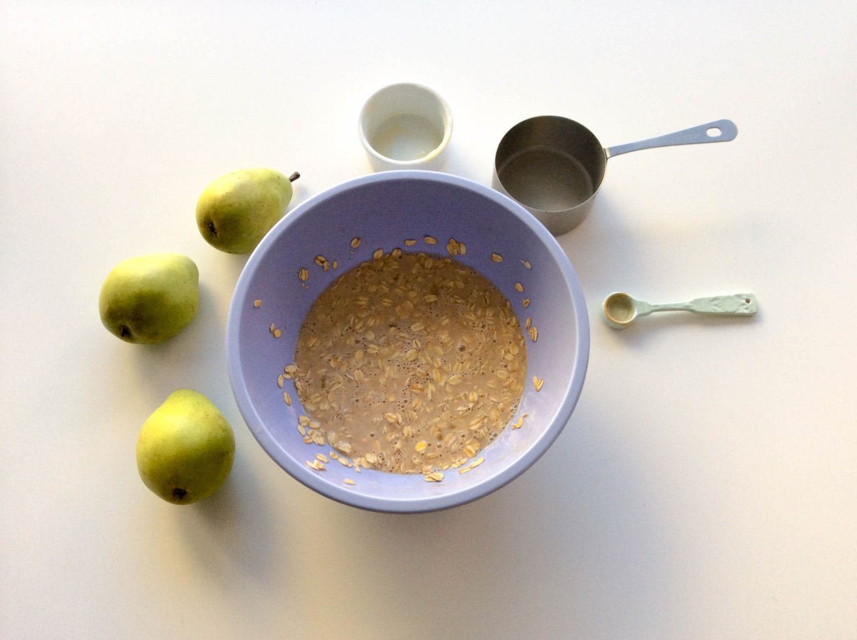 almond pear oatmeal bake (1 of 1)-3