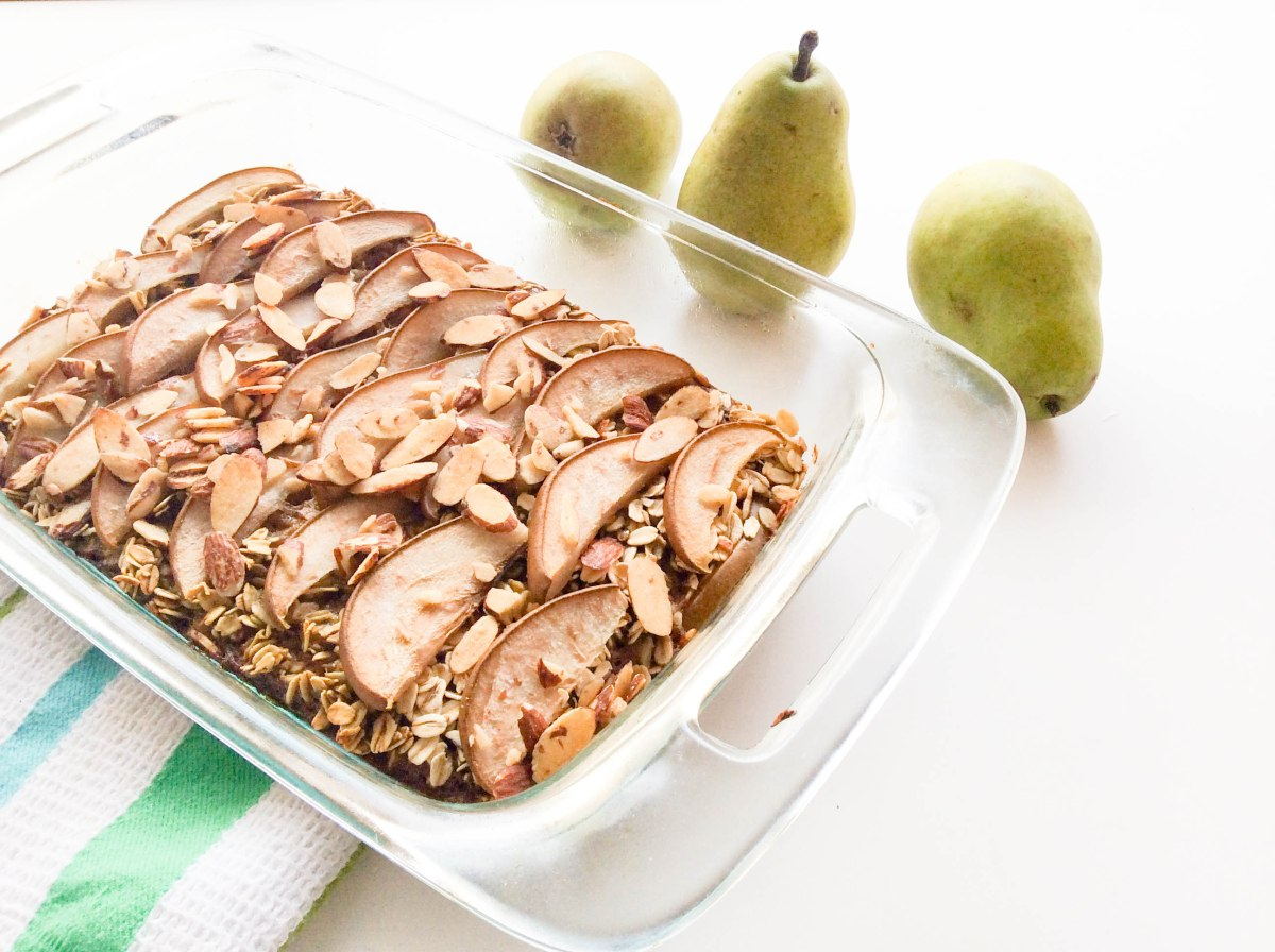 almond pear oatmeal bake (1 of 1)-6
