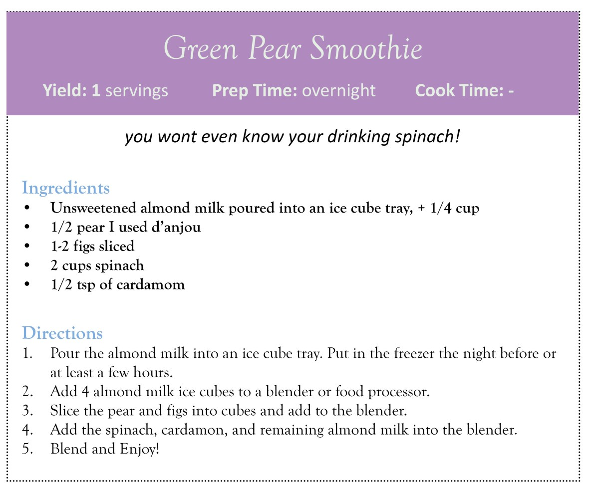 Green Pear Smoothie