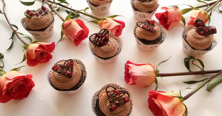 Chocolate Raspberry Cupcakes with Cocoa Almond Buttercream