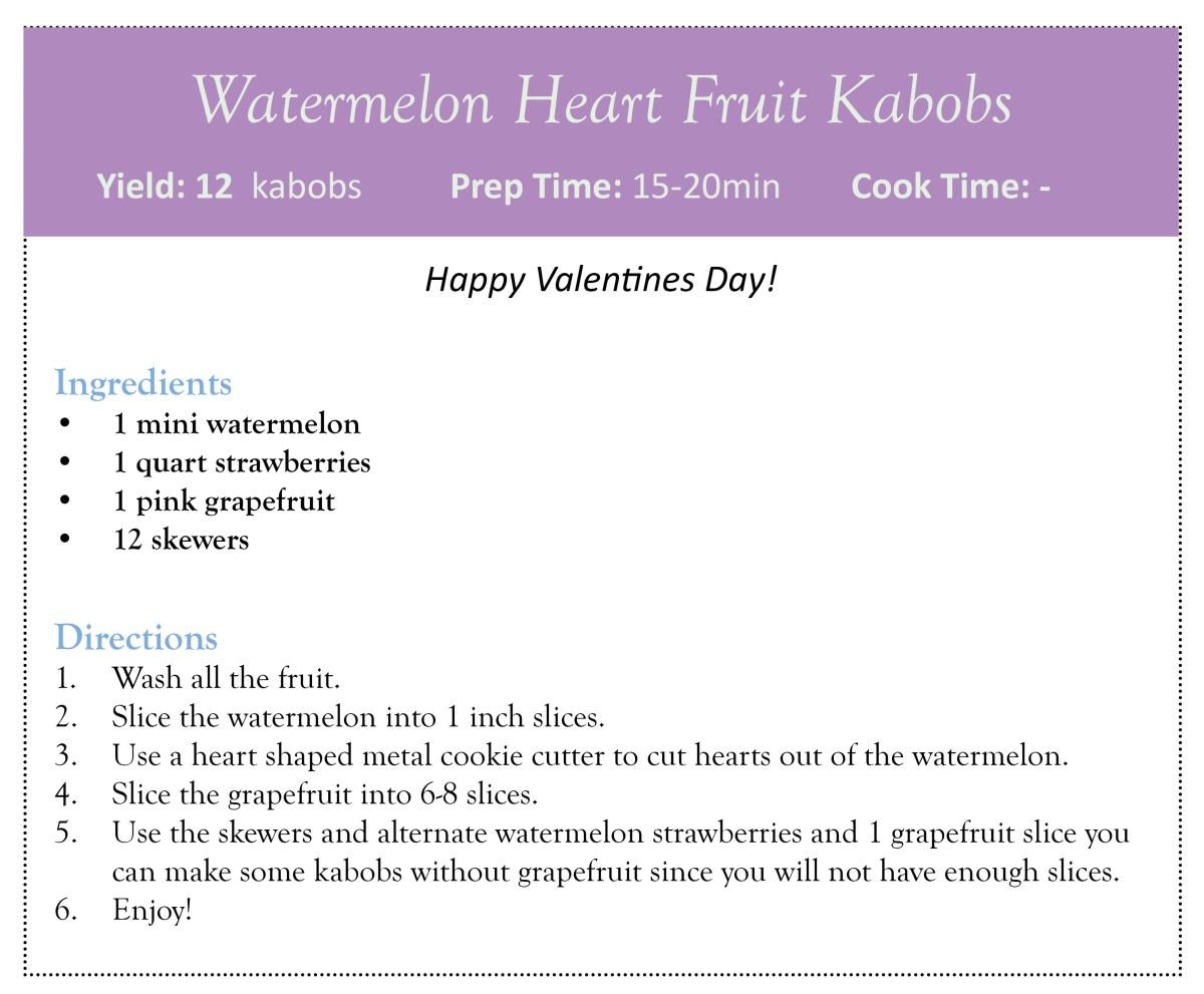 Watermelon Heart Fruit Kabobs