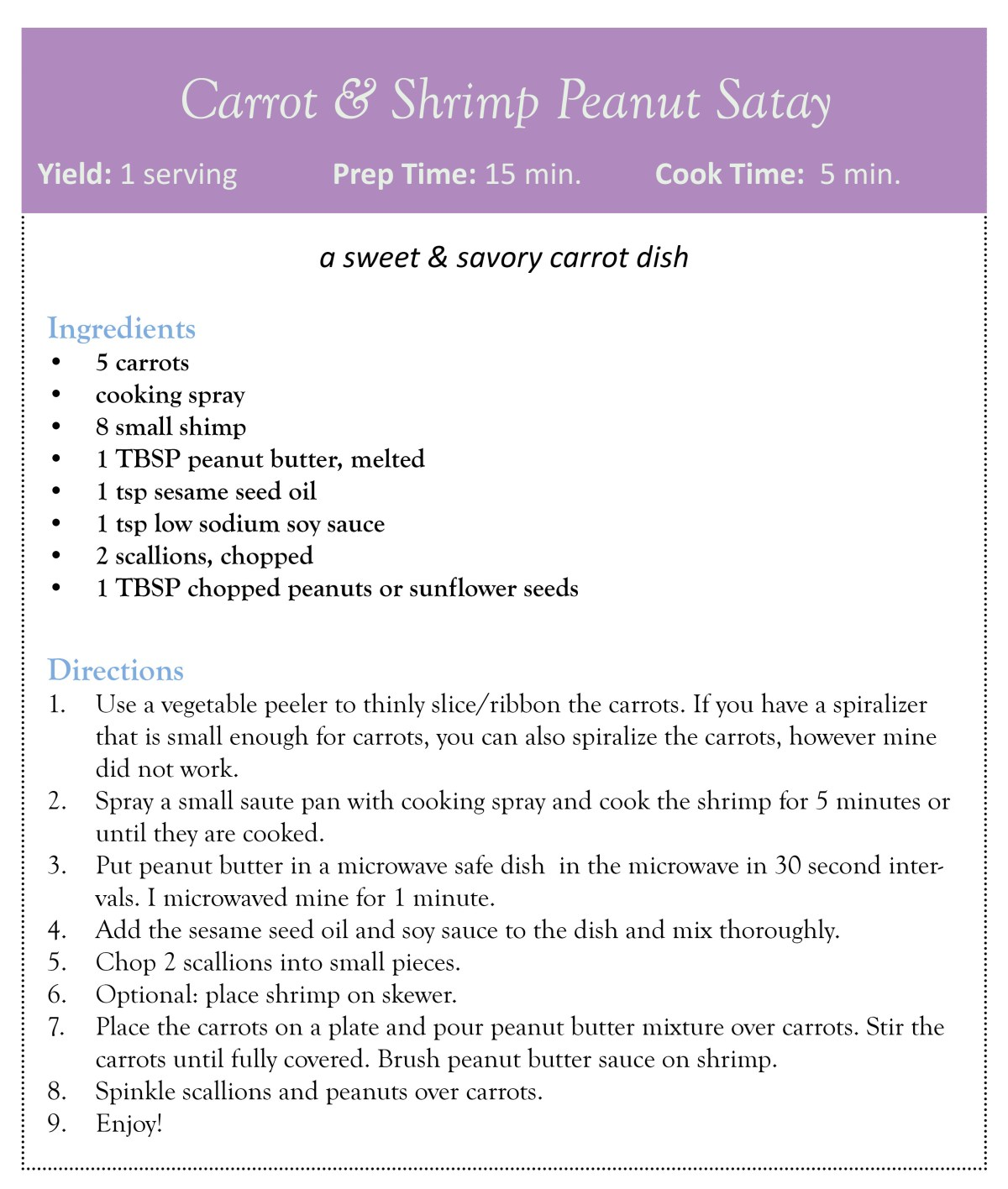 carrot & shrimp peanut satay