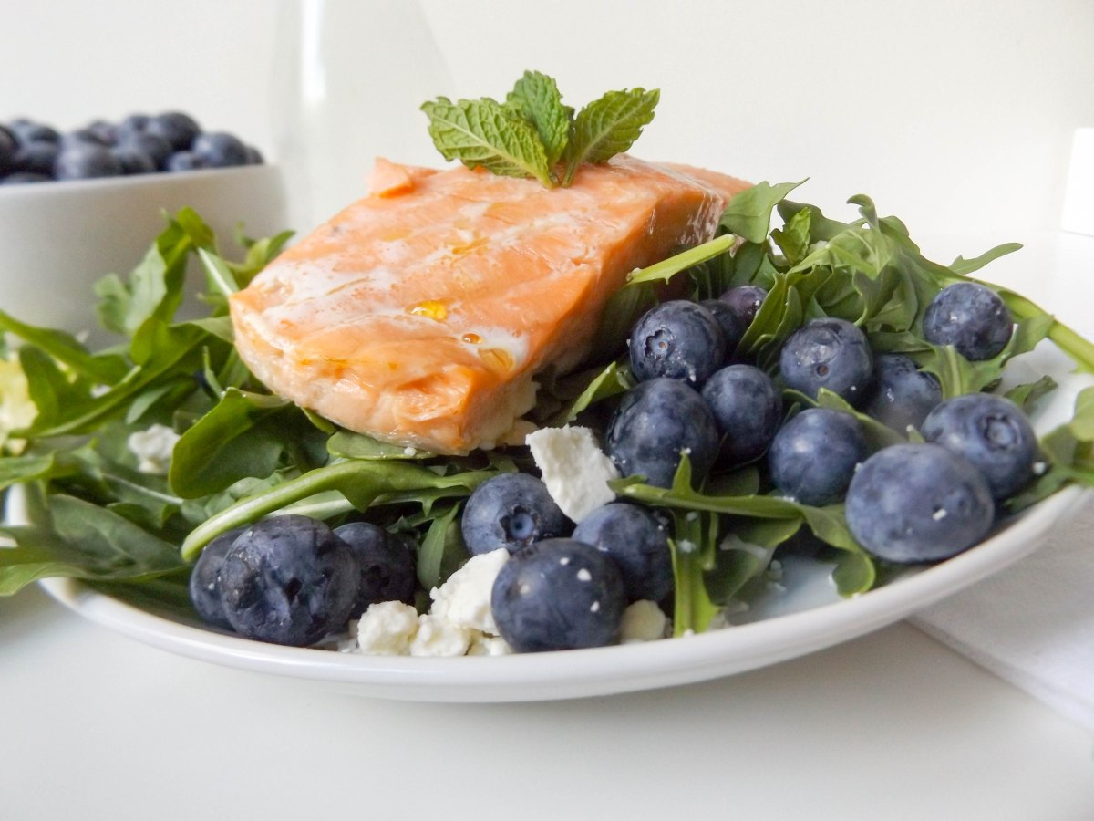 blueberry mint feta salad with salmon (1 of 1)-13