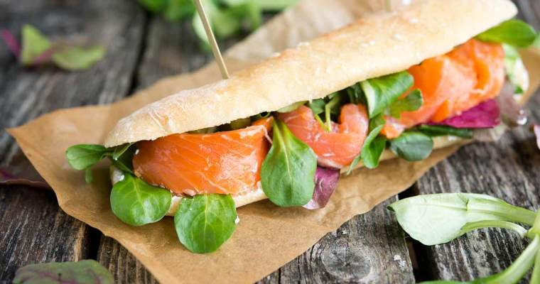 Salmon and Spinach Sandwich