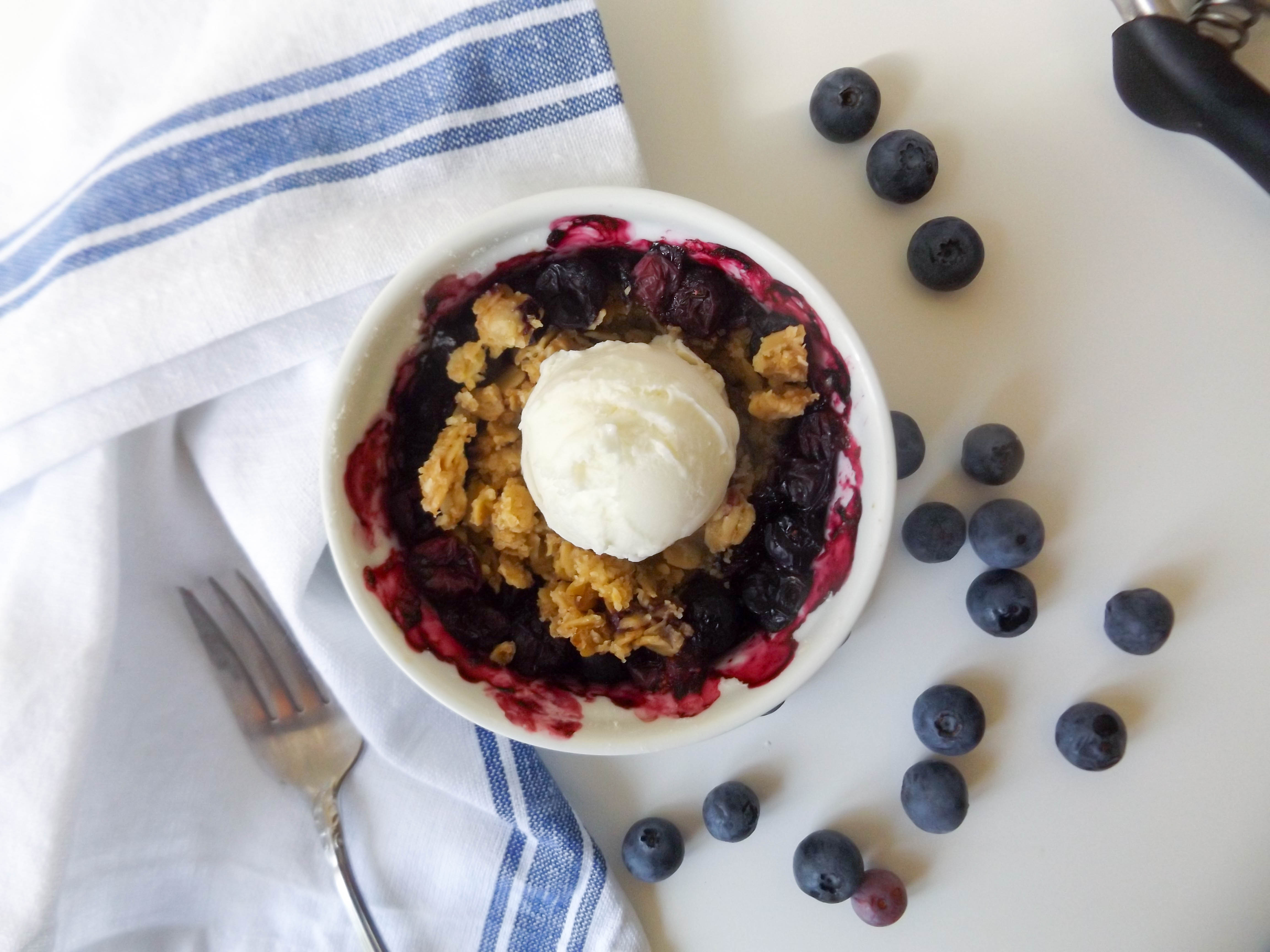 Mini Blueberry Crisp