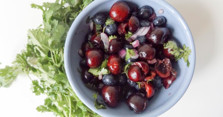 Cherry Blueberry Fruit Salsa