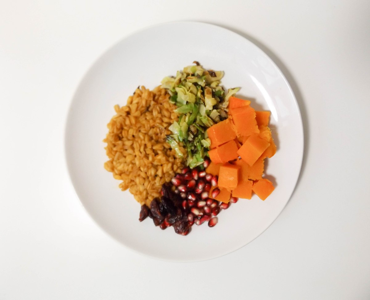 Farro with Pumpkin Brussels and Pomegranate (1 of 1).jpg