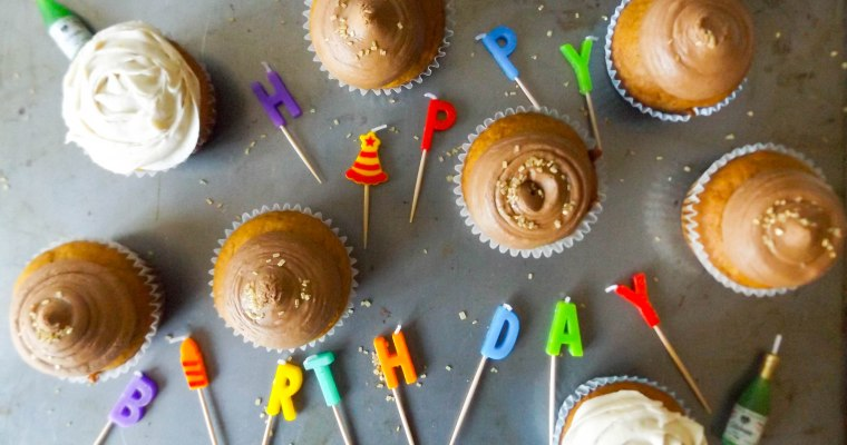 Pumpkin Cupcakes with Vanilla Chai & Nutella Chai Buttercream