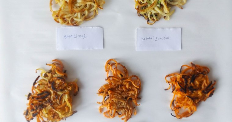 Spiralized Veggie & Potato Latkes