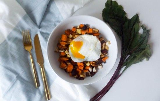 Roasted Root Vegetable Hash & Eggs