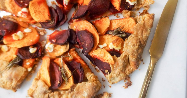 Sweet Potato Beet & Goat Cheese Galette