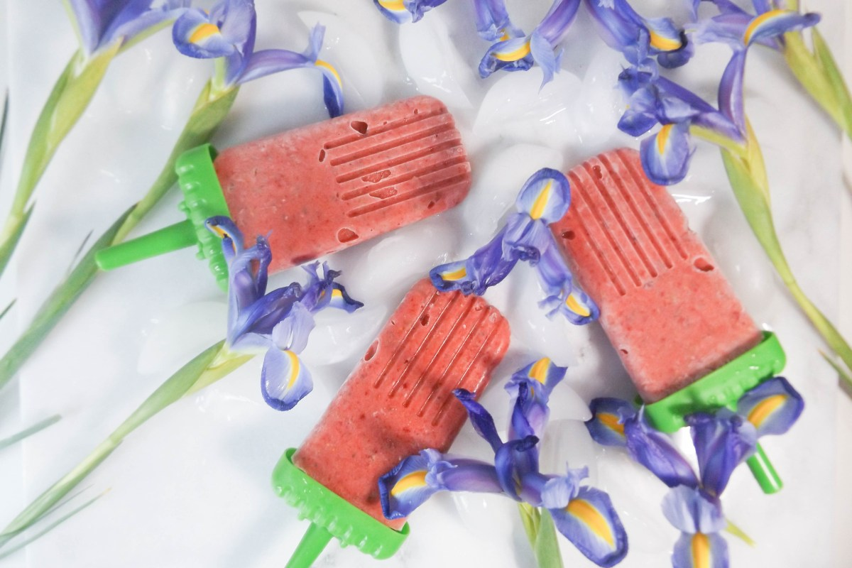 Strawberry Rhubarb Popsicles