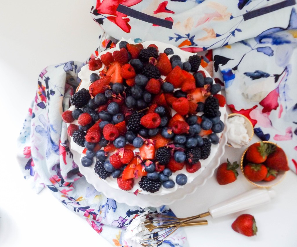 Berries & Cream Fourth of July Cake