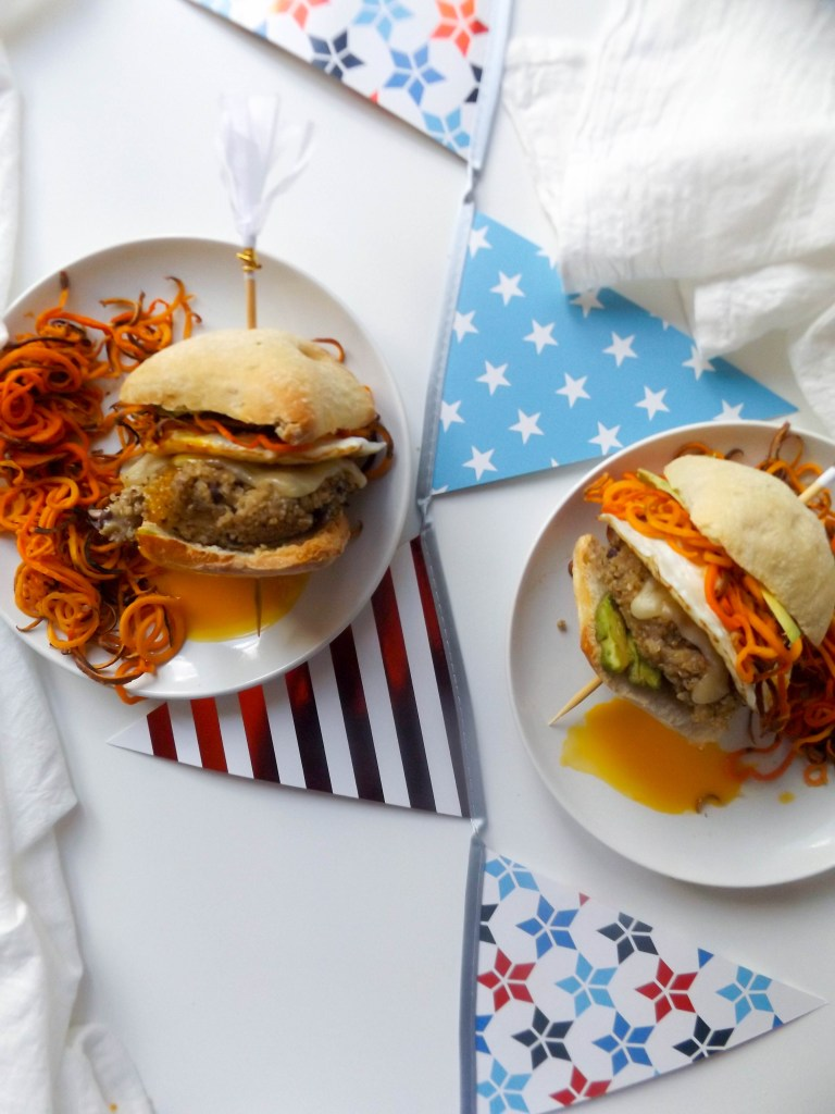 Crispy Quinoa Black Bean Breakfast Burgers