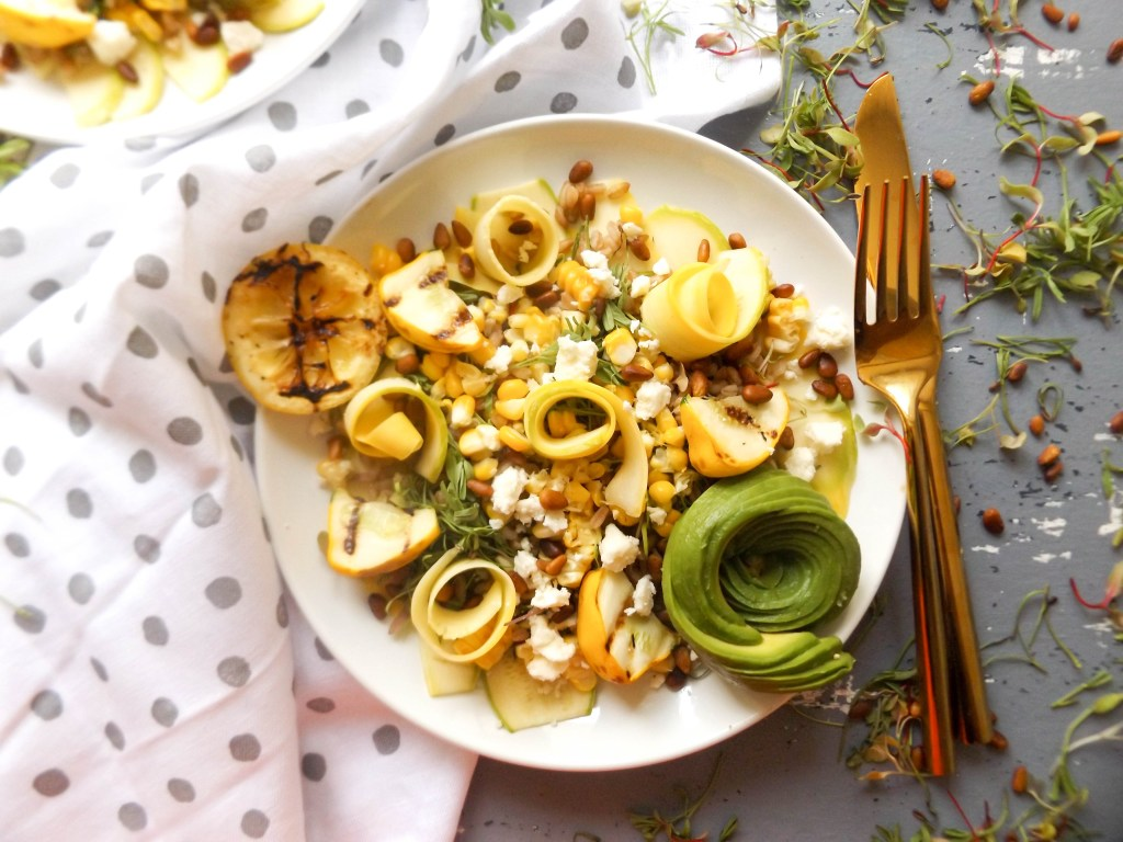 Summer Squash Ribbon Salad