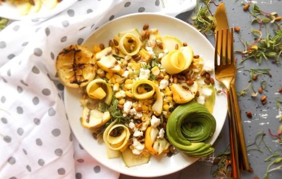 Summer Squash Ribbon Salad