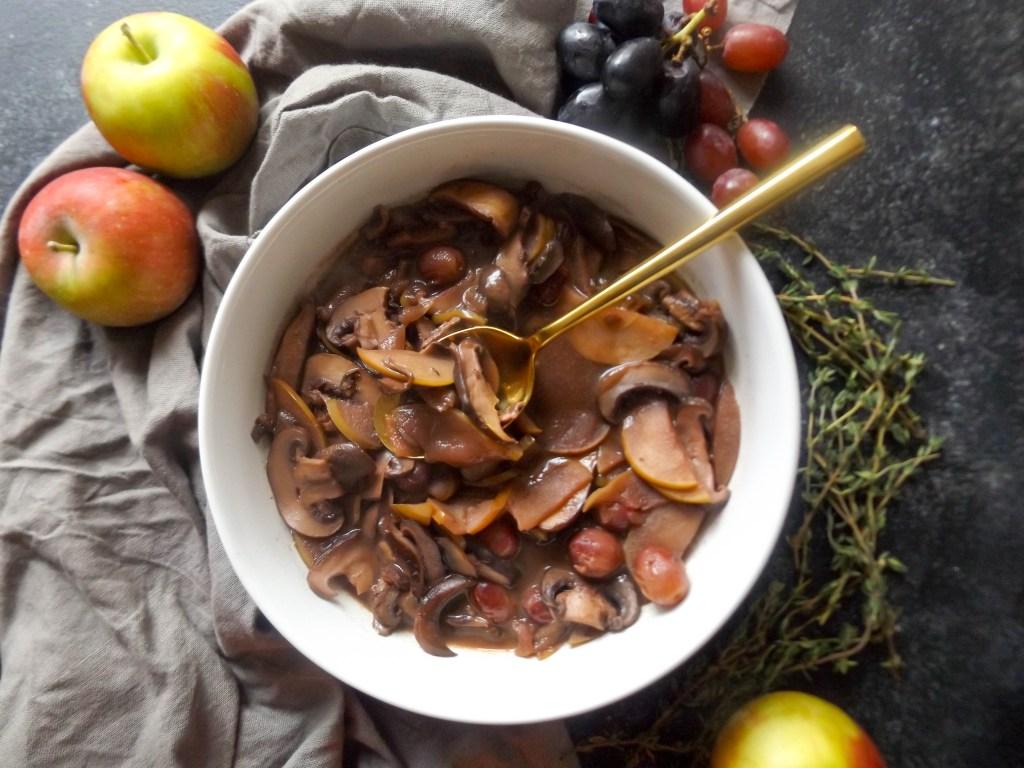 Apple Mushroom Marsala