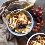 Roasted Cauliflower Chickpeas & Grapes
