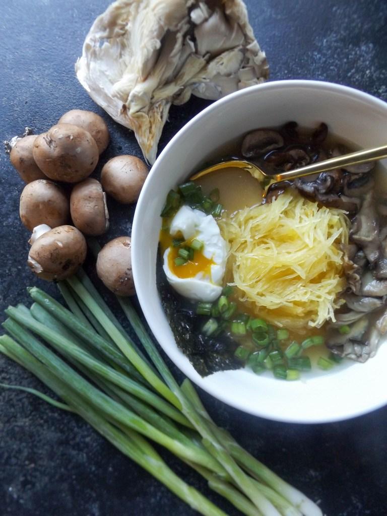 Spaghetti Squash Mushroom Ramen