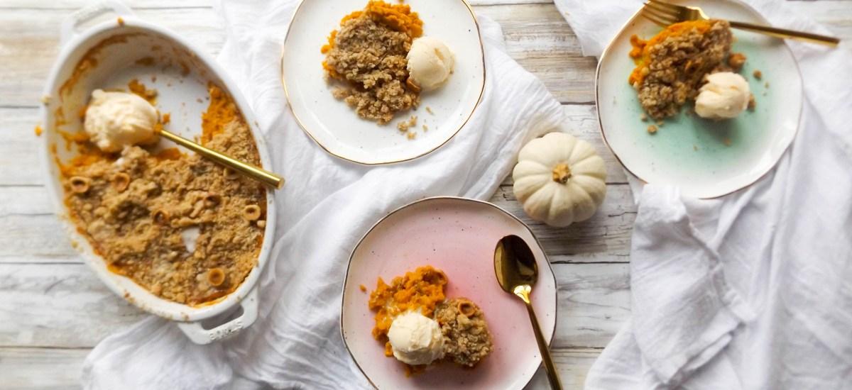 Pumpkin Hazelnut Crumble