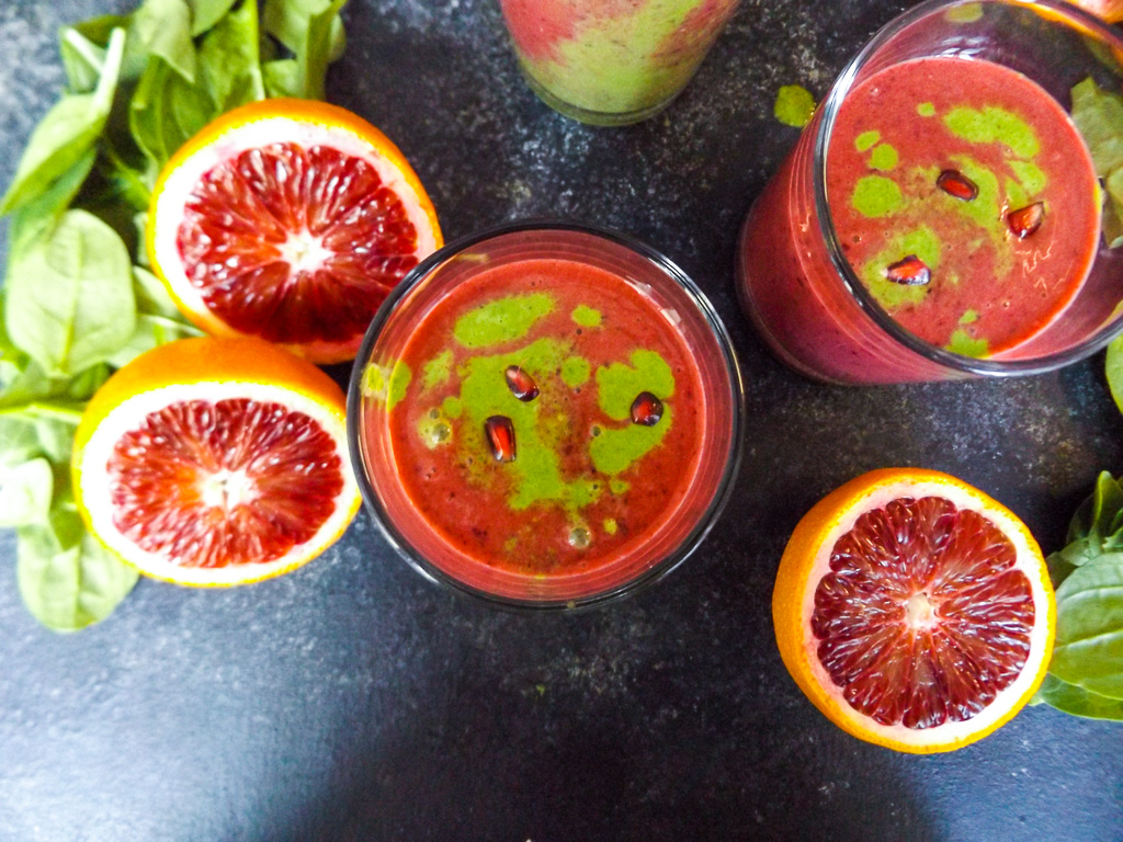 Berry Citrus Green Almond Smoothie