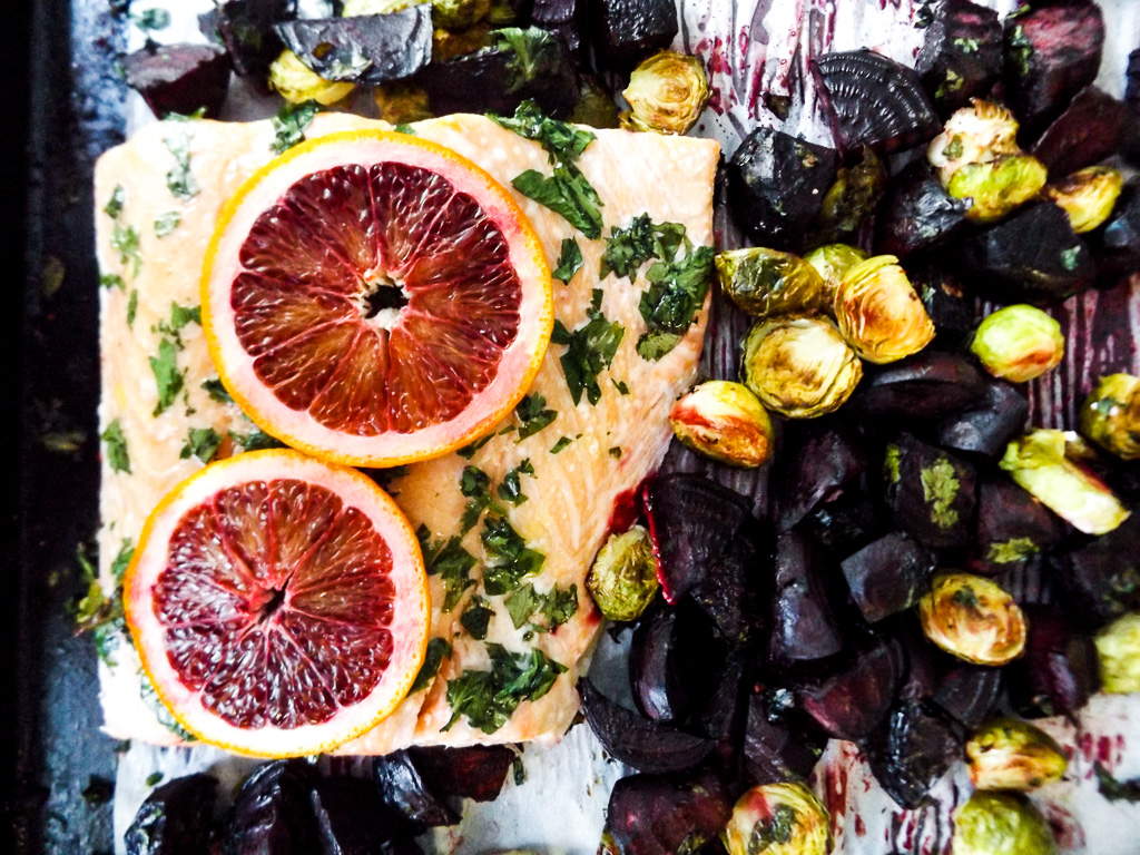 Blood Orange Sheet Pan Dinner