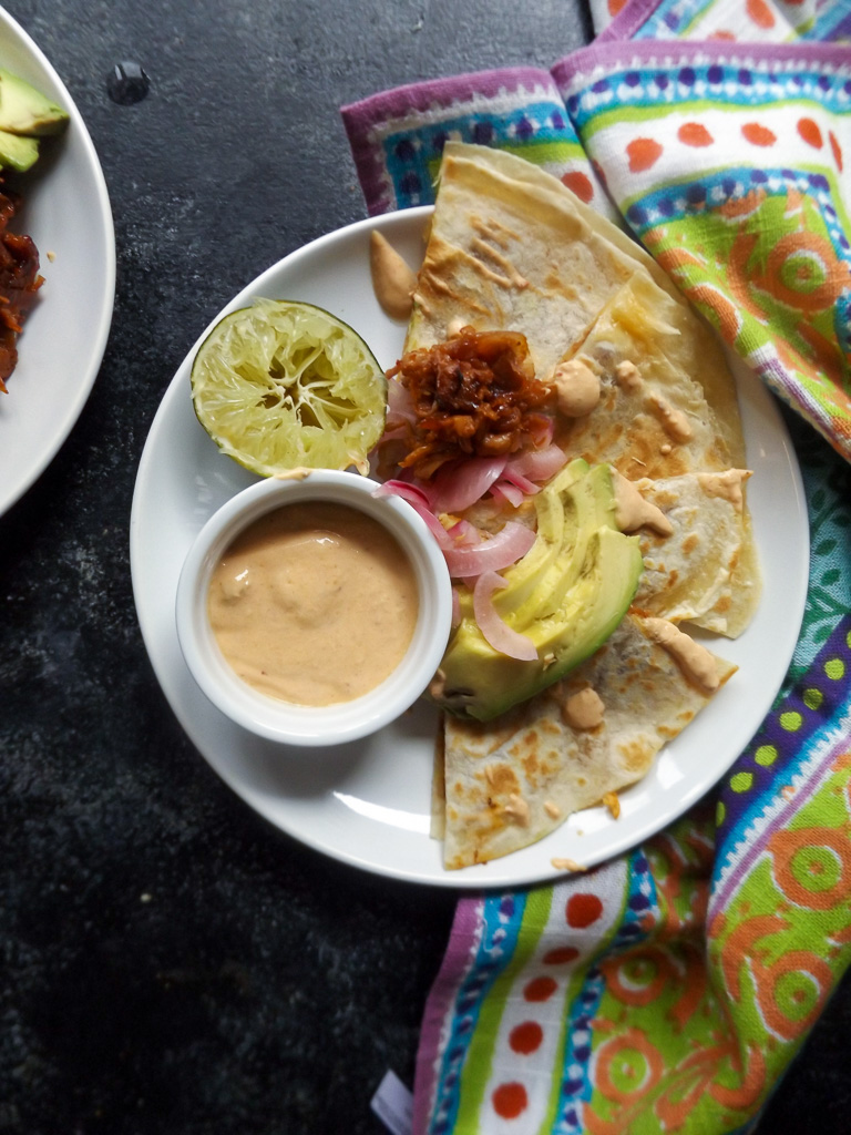 Barbecue Jackfruit Quesadilla