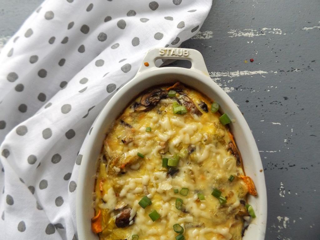 Leek Quiche with Sweet Potato Crust