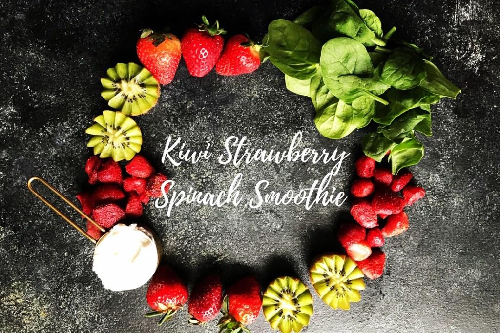 Kiwi Strawberry Spinach Smoothie