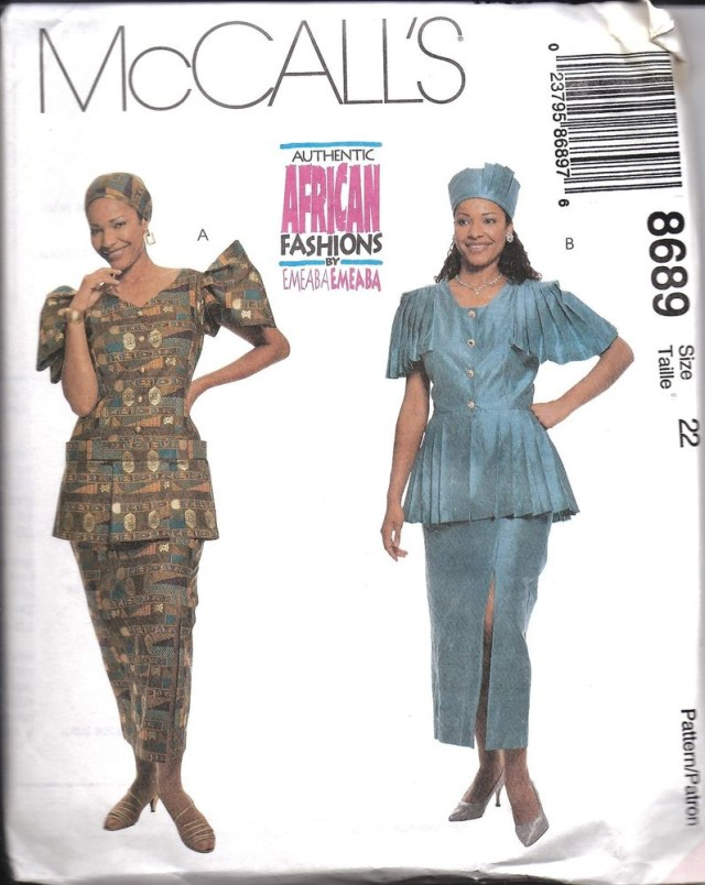 African Dress Patterns For Sewing 8689 Uncut Vintage Mccalls Sewing Pattern African Two Piece Dress
