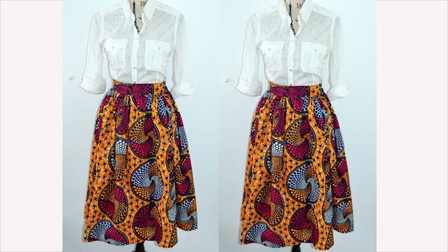 African Dress Patterns For Sewing Diy How To Make A Gathered Mid Skirt Easy Sewing Youtube
