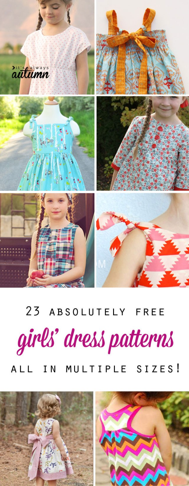 African Dress Patterns For Sewing Free Girls Dress Patterns Charity Sewing Its Always Autumn