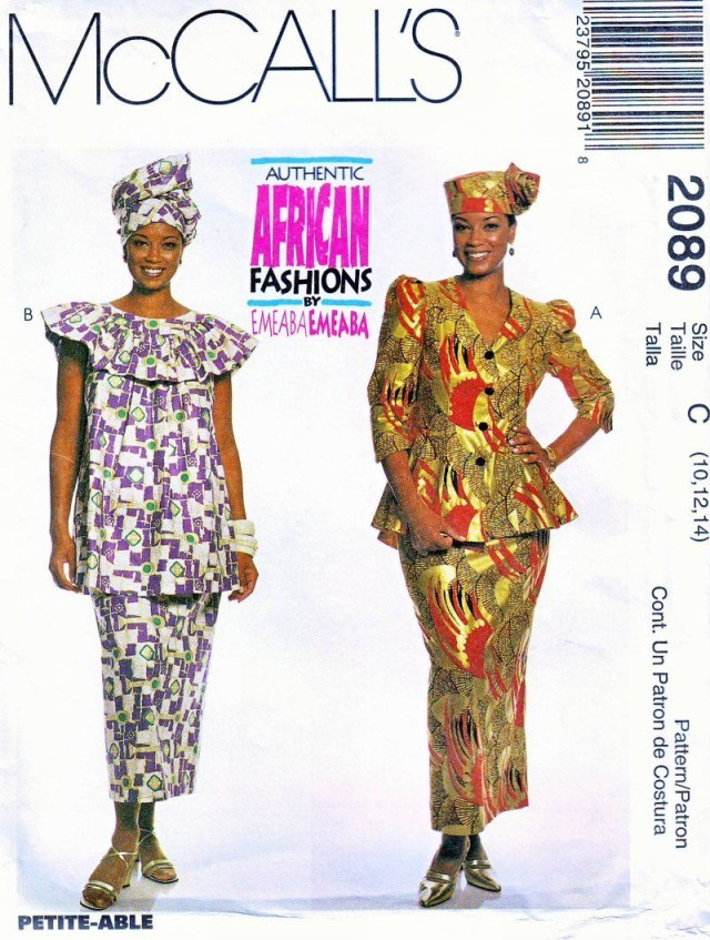 African Dress Patterns For Sewing Mccalls 2089 161820 African Fashions Emeaba Emeaba Uncut