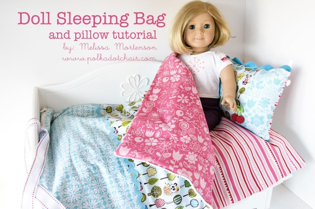 American Girl Doll Sewing Patterns American Girl Doll Sleeping Bag Sewing Tutorial