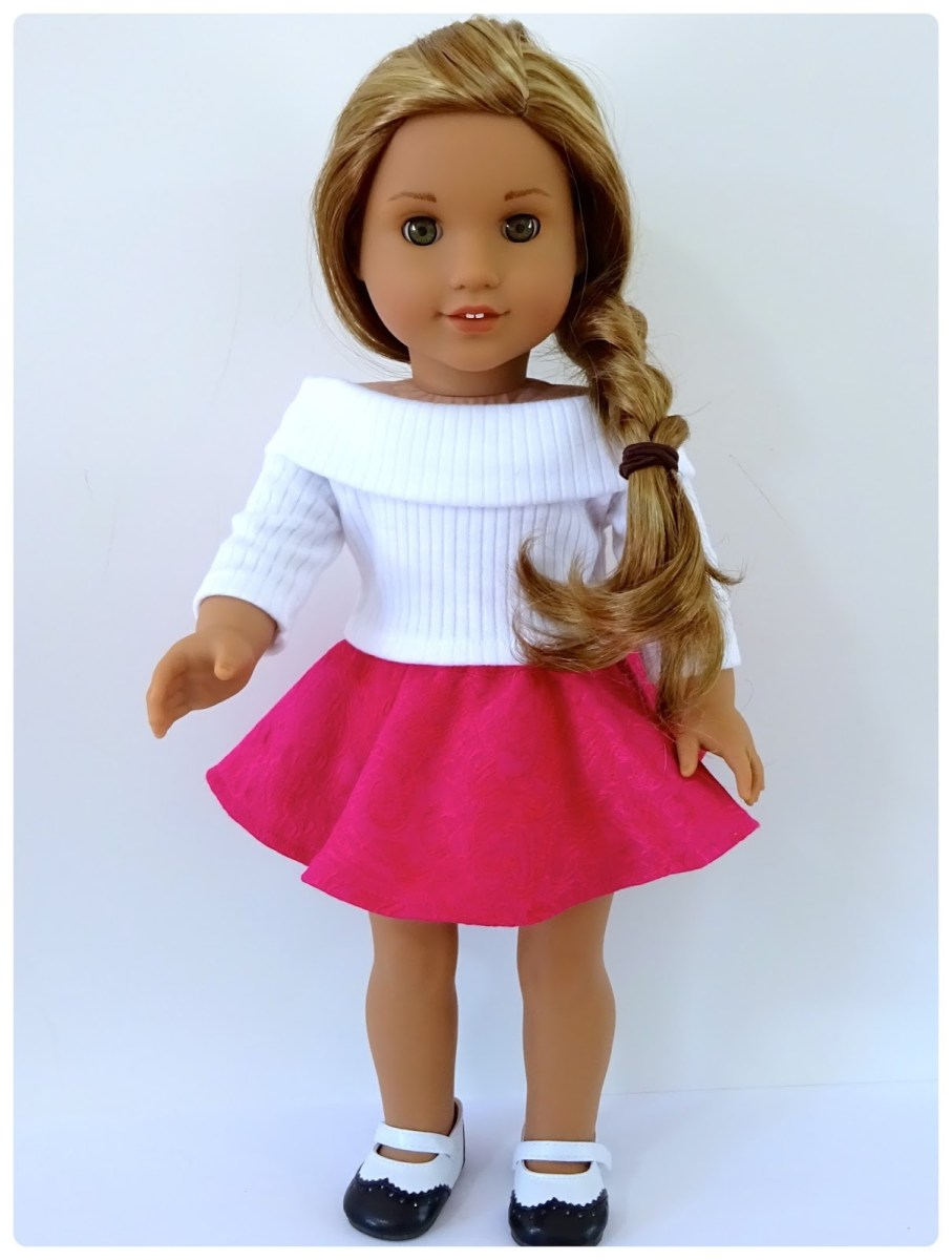 American Girl Doll Sewing Patterns Doll Clothes Patterns Valspierssews Skater Skirt Doll Clothes