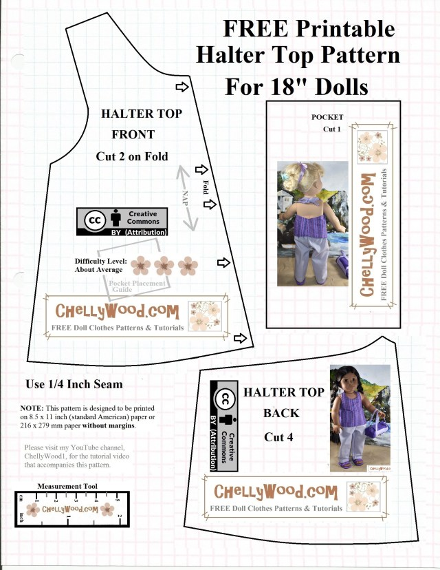 American Girl Doll Sewing Patterns Free Agdoll Summer Shirt Pattern Chellywood Sewing 4dolls