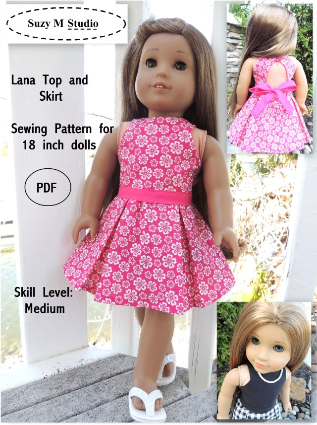 American Girl Doll Sewing Patterns Lana Top And Skirt Sewing Pattern Suzymstudio