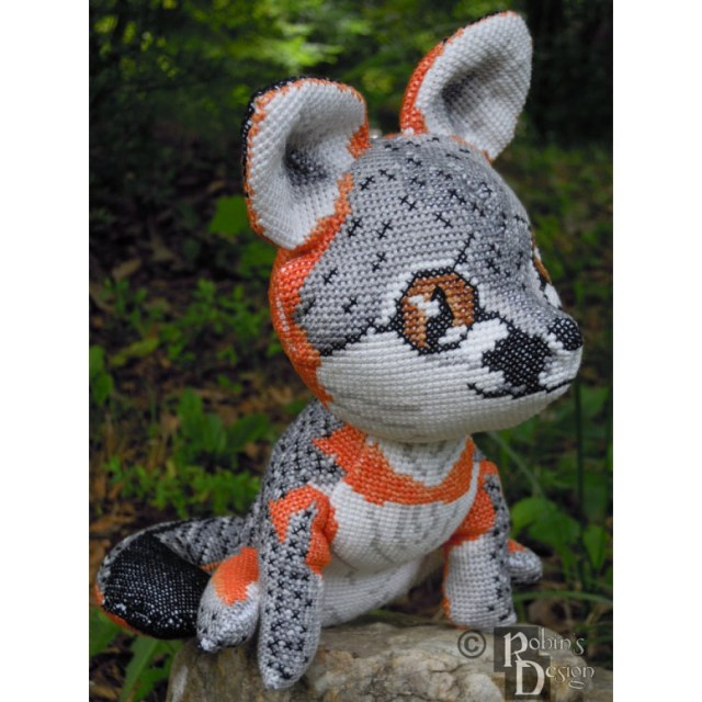 Animal Sewing Patterns Gray Fox Doll 3d Cross Stitch Animal Sewing Pattern Pdf