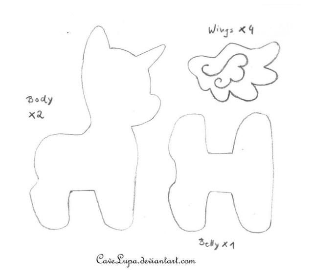 Animal Sewing Patterns Printable Stuffed Animal Sewing Patterns My Little Pony Plush