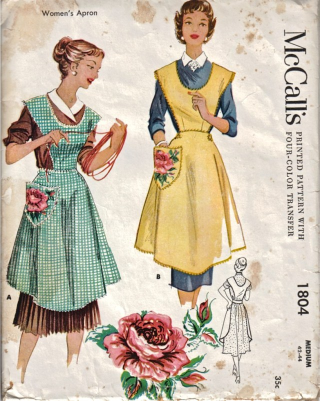 Apron Sewing Pattern Dancing Bumblebee Cottage Original Vintage Apron Sewing Pattern