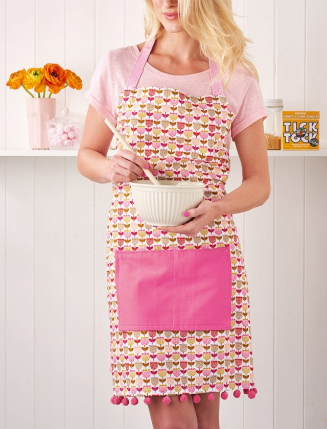 Apron Sewing Pattern Pom Pom Apron Sewing Pattern Mollie Makes