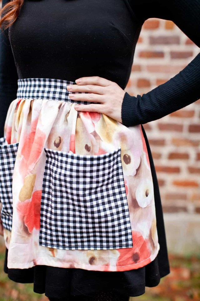 Apron Sewing Pattern Sew Your Own Half Apron A Beautiful Mess